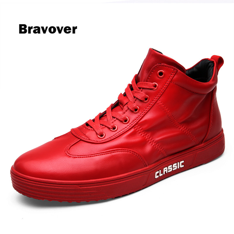hot 2017 High Quality Classic Men Shoes Fashion High top Mens Casual Shoes Breathable Man Lace up Brand Shoes<br>