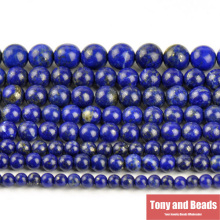 "Free Shipping Natural Stone Lapis Lazuli Round Loose Beads 15"" Strand 3 4 6 8 10 12 14MM Pick Size For Jewelry Making No.SAB15"