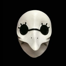 Long Nose Plague Doctor Bird Mouth Resin White Mask Halloween Horror Assassin's Creed Brotherhood Men Game Masks