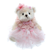 New Pink Teddy Bear Plush Collection Doll Toys Home Car Decor Bag Wedding Bears Ornamenets Gift Size 8'' New(China)