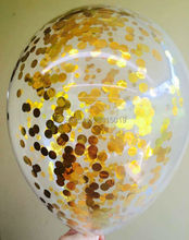 12 inch clear metallic foil confetti balloons gold silver 10pc per pack wedding decoration party supplies decorating accessories