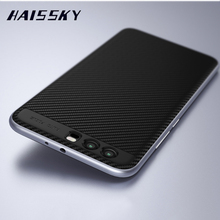 HUAWEI P10 Case Cover Huawei P10 Plus Cases Original HAISSKY Luxury Silicone & PC Hybrid Carbon Fiber Mobile Phone Shell Capa