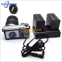 NP-F970 Battery Dual Charger Cradle Supply Power for Nikon Canon Panasonic Sony Camera / Camcorder / Monitor / Lighting & More