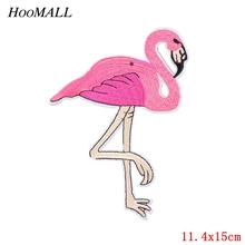 Hoomall 1PC Flamingo Patches For Iron On Patches Lot Applique Stickers Backpack Hats Jeans Sewing Accessories