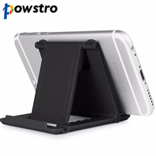 Powstro Foldable Lazy Mobile Phone Foldable Mini Cell Phone Stand Holder For HTC For iPhone 5/4/4S 6 7 For Samsung For Xiaomi(China)