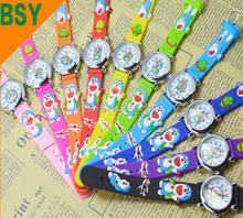 New Arrival Waterproof 3D Cartoon Silicone Band Chilidren's watches Doraemon watches Kids Gift Watch 100pcs/lot Wholesale