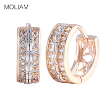 MOLIAM Fashion Jewellery Huggie Earing for Women White Cubic Zirconia Hoop Earings Design Wedding Earring Brinco Bijoux MLE151