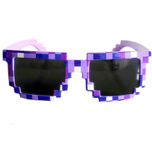Thug Life Glasses 8 bit Pixel Women Men Sunglasses Female Male Mosaic Sun Glasses kids Boys Girls  Vintage
