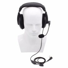 2 Pin Vox Function Headset Earpiece PTT Mic for ICOM Two Way Radio IC-V8 IC-V80 IC-V85 IC-F11 F21S Vertex VX-200 Walkie Talkie(China)
