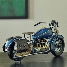 Handmade Antique Motorcycle Model WWII Handmade Model Handmade Retro Motorcycle Model Home Decor Model