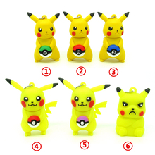 cartoon Pikachu hold Pokeball usb flash drive disk memory stick mini computer gift 4gb 8gb 16gb pendrive 32gb Pen drive Pokemon