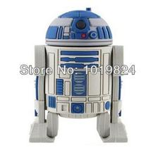 100% real capacity Hot sale 8G 16GB Star War Series Robot USB Flash 2.0 Memory Drive Sticks Pen Disk Rubber S40 AA