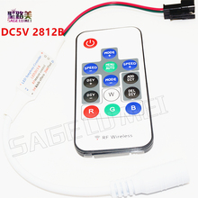 1pcs DC5V WS2812B or DC12V ws2811 Led2013-X Wireless RF Digital Color Controller With 300 Kinds of Effects RGB led strip modules