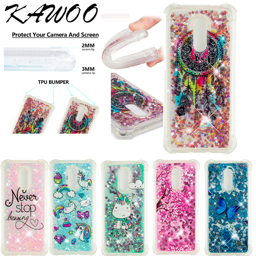 Dynamic Glitter Liquid Quicksand Shockproof Clear Soft Case Xiaomi Mi 5X A1 Redmi 5 Plus 4A 5A Note 4X Bling Silicone Cover