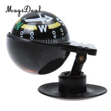 MagiDeal Professional Mini Ball Shape Compass Travel Driving Adjustable Car Sucker Pedestal Compass for Pointing Guide Supplies(China)