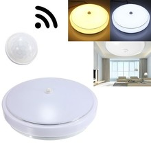 LED Ceiling Light Household / Office Lighting 12W E27 PIR Infrared Motion Sensor Flush Mounted for Corrider Path  AC85-265V