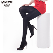 Buy LANSWE large size women brand nylon pantyhose solid color lady 200D thick tights Sexy slim Female lingerie stocking langsha