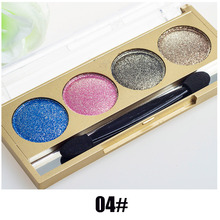 Diamond Series 4 Colors Eyeshadow Palette Professional Natural Glitter Cosmetics Makeup Shining Eye Shadow