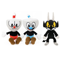 "Cuphead & Mugman Plush Toy Mecup And Brocup Evil Boss Soft Stuffed Doll 8""(China)"