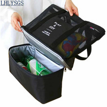 LHLYSGS Brand Travel Baby Mommy Bag Multifunction Cool Cooler Lunch Box Handbag For Picnic Food Keep Fresh Cooler Lunch Bags