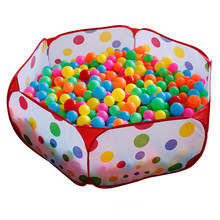 2016 Hot Children Toys Tent Game Ball Pits Pool 1.2M Foldable Child Ocean Ball Pool Outdoor Fun Sports Kid Baby Play Toy Tent(China)