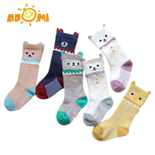 ADOMI Hot Sale Cartoon Girls Boys Baby Sock 3D Kitten Cotton Mesh Children Tube Socks Without Bone Stitched High Tube Baby Socks(China)