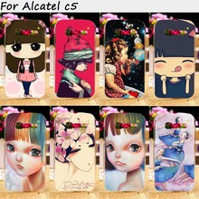 TAOYUNXI Cell Phone Cases For Alcatel OneTouch Pop C5 5036 OT5036 5036D 4.5 inch Cover Plastic TPU Puppet doll Bags Skin Housing(China)