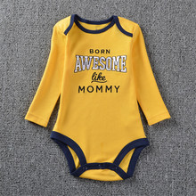 Promotional Good Quality Original Baby Girls Boys Long Sleeves Cotton Bodysuit Baby Fashion Jumpsuit newborn to 24M o-neck