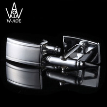WAOE 2017 New Fashion Simple Silver Plated Shirt Cufflinks For Mens Business Suit Cuff Links Gemelos Cuff Buttons Men Jewelry