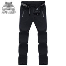 Men Pants Thin New 2018 Summer Militar Cargo Casual flexible Waterproof Comfortable Original Brand AFS JEEP Breathable(China)