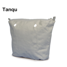 TANQU New waterproof Inner Lining Insert Zipper Pocket for Classic Mini Obag Canvas  Inner pocket for O Bag