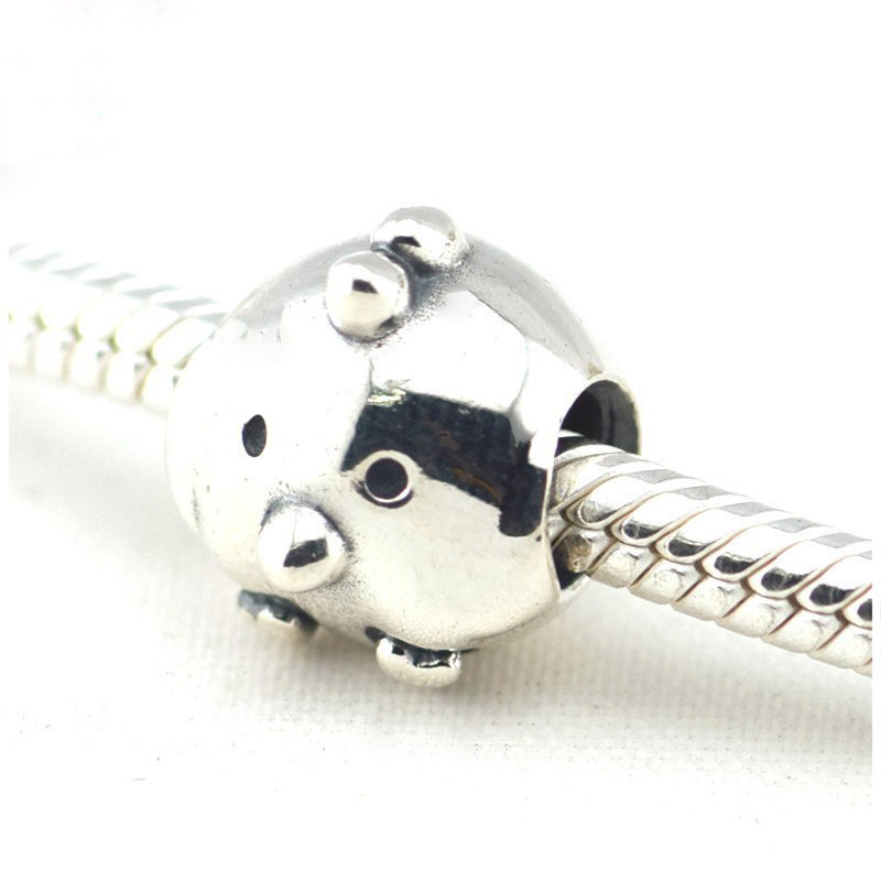 New Chicken Silver Charm Beads 925 Sterling Silver charms DIY Jewelry Fits  Pandora Original charm Bracelet free shipping