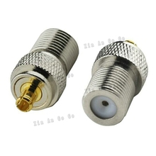 RF coaxial coax F to MCX connector F female to MCX male Plug adapter fast ship