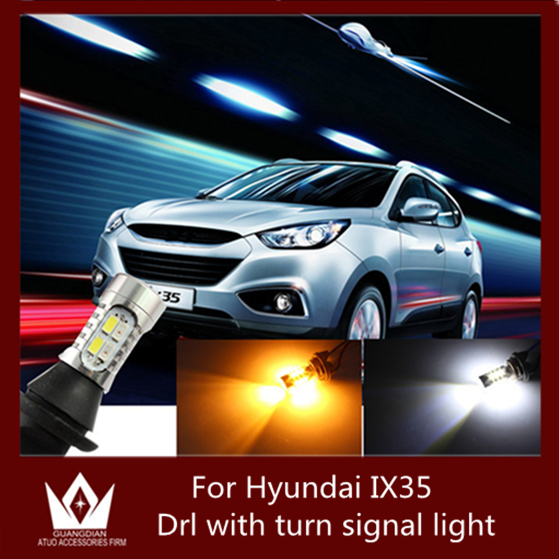 Guang Dian car led light For H-yun-dai 2010-2015 ix35 DRL with switch lamp Daytime Running Light &amp; Turn Signal Light<br><br>Aliexpress
