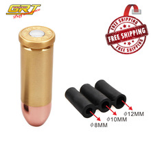 GRT - Free Shipping Universal Bullet Gear Shift Knob Car SUV Truck Manual Transmission Shifter Lever with 3 adaptor