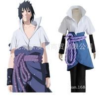 Uchiha Sasuke cosplay costumes anime Naruto Shippuden clothing third Generation Clothes (Blazer+pants+Waist rope+handguard)