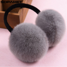 2017 Winter Earmuff Imitation Rabbit Women Fur Earmuffs Winter Ear Warmers Large Plush Girls and Boys Ear Warmers Earmuffs(China)