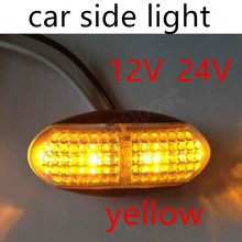 1Pcs/Set 12V 24V LED Car Bus Truck Trailer Lorry Side Marker Indicator Light Side lamp 4 colors selection new arrival