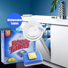 30Pcs/Box Eco-friendly Type Dishwasher Tablets Washing Machine Cleaner For Household Clean
