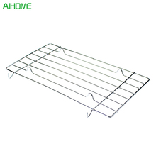 1pcs Stainless Steel Wire Steaming Barbecue Rack BBQ Grill Mesh Oven Net Carbon Grill(China)
