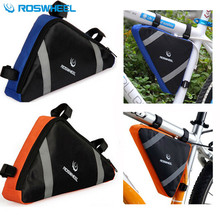 ROSWHEEL Front Tube Frame Triangle Pannier Para Bicicleta Pouch Bicycle Cycling Basket Mountain Bike Rack Bag Accessories(China)