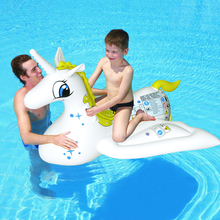 112*132cm inflatable water pegasus fly horse rider animal rider baby rider swimming pool toy summer play beach inflatable item(China)