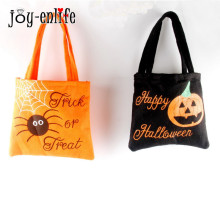 JOY-ENLIFE Halloween Tote Bags Pumpkin Spider Reusable Candy Carry Tote Halloween Children Party Favors Handbag Free Shipping(China)