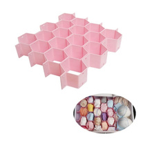 8-Piece Honeycomb Drawer Clapboard Closet Divider Cabinet Cellular Partitions Underwear Organizer Cosmetic Plastic Storage Box(China)