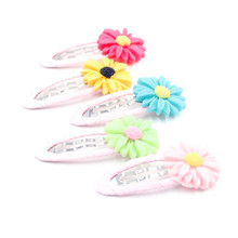 Daisy Hair clip  girl barrettes candy color floral hairpin cute headwear kids Apparel hair Accessories mg0192
