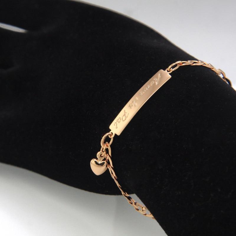 BR18-39_08a Amor de Pai kids jewelry baby bracelet gold bebe pulsera armband
