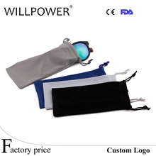 WILLPOWER Free Shipping Wholesale 2017 Soft microfiber cloth pouch for sunglasses Glasses carrying bags small drawstring pouches