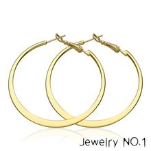 AFJ 2017 Charm F Stylish Nickle Round Hoop Earrings Women Loop Celebrity Brand Office Gifts Fashion Jewelry