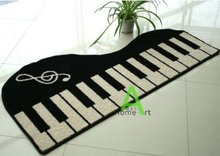 Artful Area Rugs Music Piano Carpet,Cartoon Rugs and Carpets for Home Living Room,White with Black Rug,Morden Area Rug