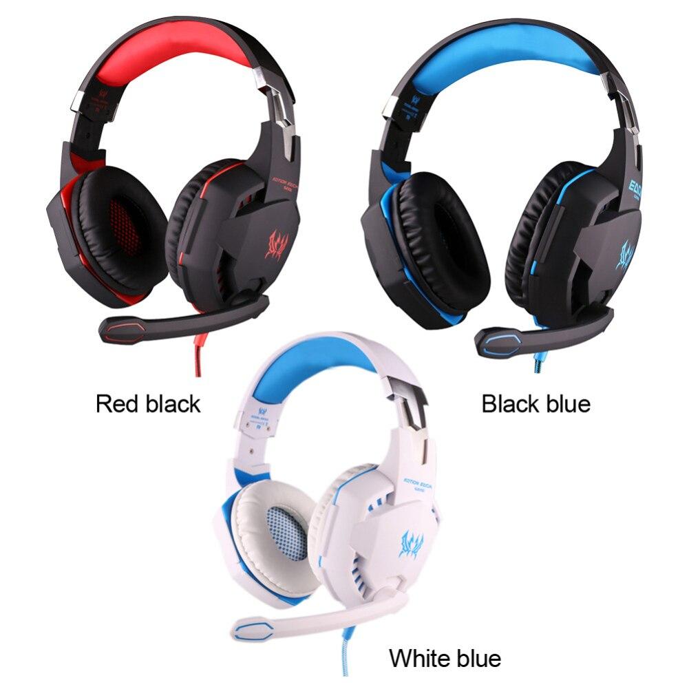 G2100 3.5mm Gaming Headphone Headset+Mic+LED Mute Volume Konb<br>
